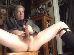 Dad clothed to masturbate once more
