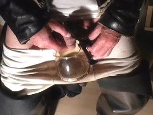 nlboots - leather jacket black waders piss