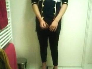 Dressed up masturbating x