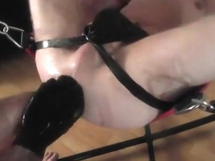 Slim Twink fisted in gas mask and showing astonishing rosebud