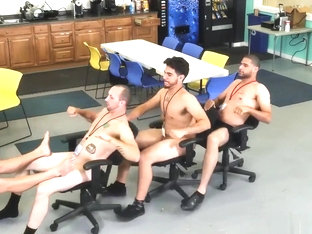 Hardcore hairy old african gay porn first time CPR schlong throating and