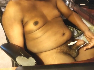 Indian guy uses TENS to get hard