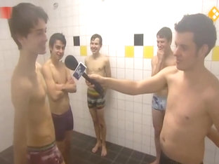 Sports Reporter Showers With Dutch Soccer Players
