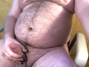 Jacking off my fat bear cub cock
