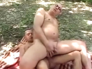 Anal bareback by the lake