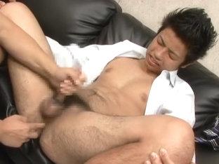 Hottest Asian gay guys in Amazing fingering, masturbation JAV movie