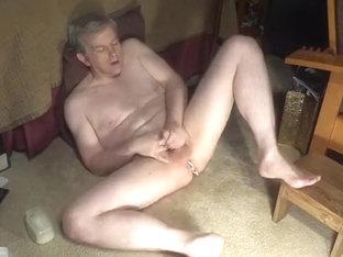 overhead view of a Dad masturbating
