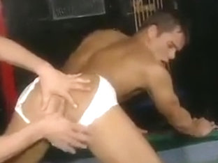 Hot group fucking in bar