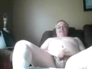 Grandpa cum on cam 13