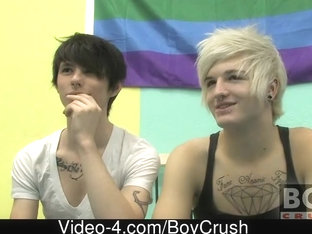 Those 2 boyfriends take the Boycrush studio by storm utilizing all its space for their hardcore ha.