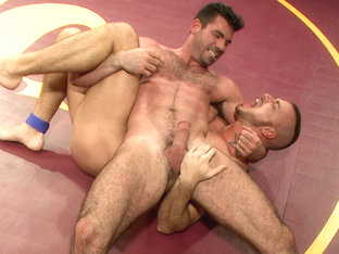 First Match of 2014! - Two Muscled Hunks Fight for Sexual Domination!