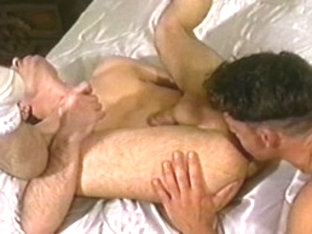 Amazing male pornstars Vincent DeMarco and Jack Tower in incredible rimming, blowjob homosexual po.