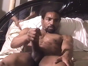 Huge Cock Black Stud Jacks Himself Off