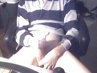 Horny guy masturbating in a sweater