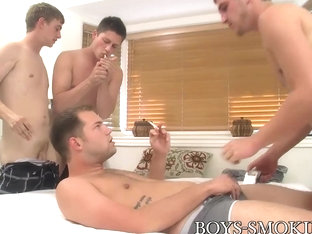 Wesley Marks & Preston Ettinger in Wesley Marks and Preston Ettinger have a chain smoking orgy - B.