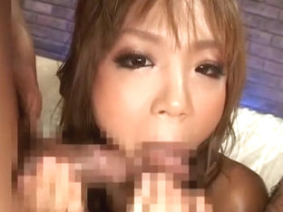 Horny Japanese whore in Crazy Gangbang, Red Head JAV scene