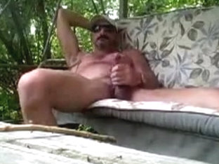 hot man wanking and cum