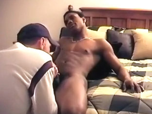 Homemade interracial gay blowjob