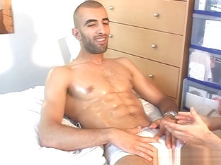 Full video: A innocent str8 arab gets serviced his big cock by a guy!