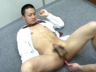 Incredible Asian gay twinks in Amazing uniform, dildos/toys JAV scene