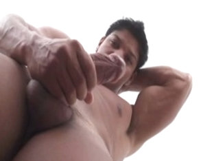 Fabulous male pornstar Menoel Garces in hottest masturbation, latins homosexual porn movie