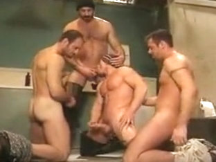 Crazy male in fabulous hunks, bears homosexual sex movie