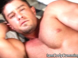 Cody Cummings strokes his cock
