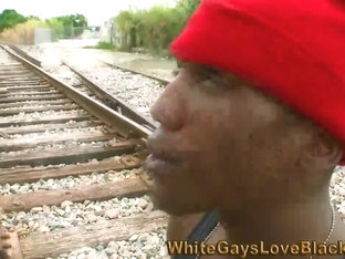 Black thug getting fucked