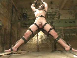 BoundGods : A Bound Gods member gets tied up abused and fucked till he begs for mercy