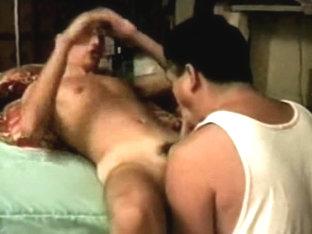 Gay couple loves handjob
