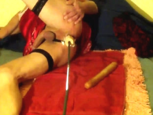 Crossdressers lascivious machine-fuck-session