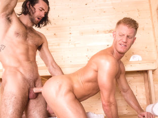 Bathhouse Ballers XXX Video: Woody Fox, Johnny V - FalconStudios
