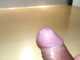Penis Glans Close Up Foreskin Play, Precum & Cum By Bvdh