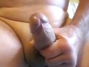 65 yrold Grandpa #13 mature penis close closeup wank uncut
