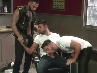 Hairy hunks ass pounded