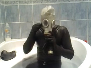 bathroom and rubber breath play