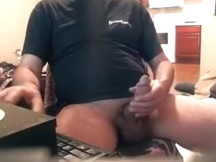 Attractive BF is jerking off in the bedroom and memorializing himself on web cam