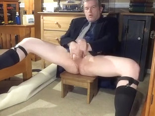 Daddy's clothed to masturbate once more, pt2