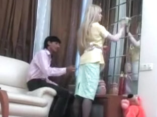 Blonde Maid Takes it in the Ass