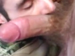 Friend blows me and I cum in his mouth