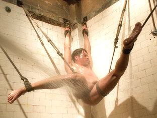 Straight hunk Lance Hart - The Wall - The Chair - The Water Chamber