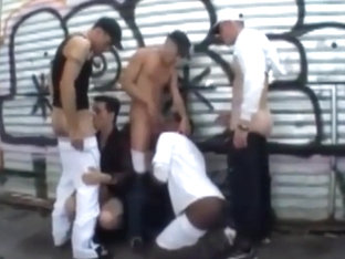 Gangbang interracial