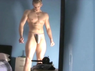 Fabulous male in horny blonde, hunks gay adult video