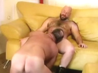Amazing male in incredible fetish, bears gay sex movie