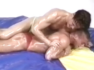 Nude Erotic Oil Wrestling