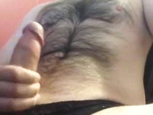 Str8 the hairy daddy cumming in his girls pants
