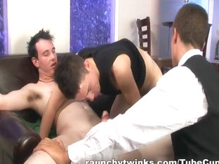 RaunchyTwinks Video: Brian's First Threesome