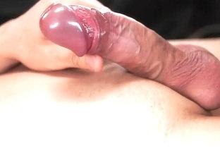 Hottest male in amazing cum shots, handjob gay sex clip