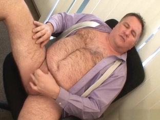 Daddy's suit and tie jerk off 1