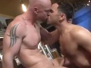 Hot stud strokes while beaing fucked